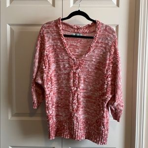 Maurices cable knit 3/4 sleeve v-neck sweater